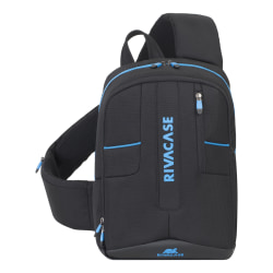"RIVACASE 7870 Borneo Drone Sling Bag With 13.3"" Laptop Pocket, Black"