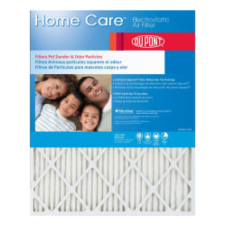 """DuPont Home Care Electrostatic Air Filters, 18""""H x 16""""W x 1""""D, Actual Size, Pack Of 4 Air Filters"""