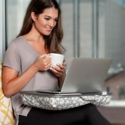 "LapGear Designer Lap Desk, 17-3/4"" x 13-3/4"", Gray Argyle"