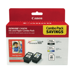 Canon PG-210XL / CL-211XL Ink & Photo Paper Combo Pack, (2973B004)