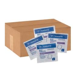 Medline Antiseptic Towelettes, White, 100 Towelettes Per Box, Case Of 10 Boxes