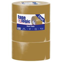 "Tape Logic® Color Duct Tape, 3"" Core, 3"" x 180', Beige, Case Of 3"