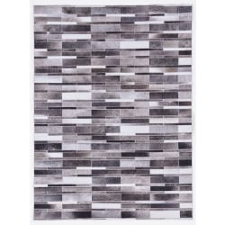 Linon Home Décor Products Bingham Area Rug, 3' x 5', Memphis, Gray/Ivory