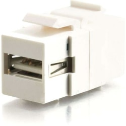 C2G Snap-In USB A/B Female Keystone Insert Module - White - White