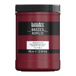 Liquitex Basics Acrylic Paint, 32 Oz Jar, Cadmium Red Deep Hue