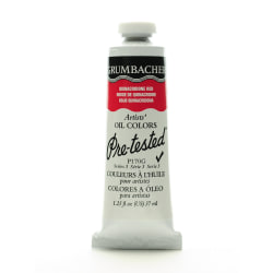 Grumbacher P170 Pre-Tested Artists' Oil Colors, 1.25 Oz, Quinacridone Red, Pack Of 2