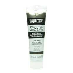 Liquitex Heavy Body Professional Artist Acrylic Colors, 4.65 Oz, Mars Black, Pack Of 2