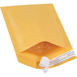 """Office Depot® Brand Kraft EZ Open Tear-Tab Bubble Mailers, #000, 4"""" x 8"""", Pack Of 250"""