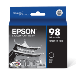 Epson® 98, (T098120-S) Claria® Hi-Definition High-Capacity Black Ink Cartridge