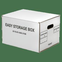 "SKILCRAFT® Easy Storage Box, Letter/Legal, 12"" x 12"" x 9 1/2"", White, Carton Of 12 (AbilityOne 8115-01-646-3158)"