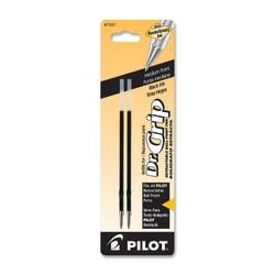 Pilot® Ballpoint Pen Refills, Fits Dr. Grip & All Pilot® Retractable Ballpoint Pens, Medium Point, 1.0 mm, Black, Pack Of 2