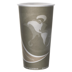 Eco-Products Evolution World PCF Hot Cups, 20 Oz, Gray, 50 Per Pack, Carton Of 20 Packs