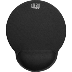 "Adesso TRUFORM P200 - Memory Foam Mouse Pad with Wrist Rest - 0.9"" x 9.7"" x 7.7"" Dimension - Black - Memory Foam, Thermoplastic Polyurethane (TPU), Fiber, Rubber Base - Anti-slip"