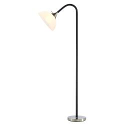 """Adesso® Gander Floor Lamp, 71""""H, White Shade/Steel Base"""