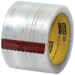 "Scotch® 373 Carton-Sealing Tape, 3"" Core, 3"" x 110 Yd., Clear, Pack Of 6"