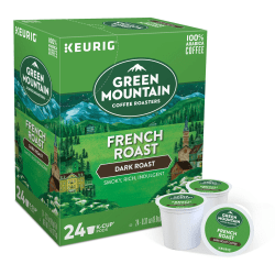 Green Mountain Coffee® French Roast Coffee Single-Serve K-Cup®, Carton Of 24