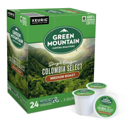 Green Mountain Coffee® Colombian Fair Trade Select Coffee Single-Serve K-Cup®, Carton Of 24
