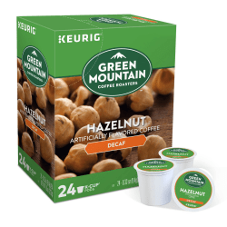 Green Mountain Coffee® Hazelnut Decaffeinated Coffee Single-Serve K-Cup®, Carton Of 24