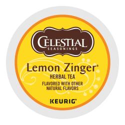 Celestial Seasonings® Lemon Zinger Tea Single-Serve K-Cups®, 0.4 Oz, Box Of 24