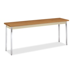 "HON® Utility Table, 72"" x 18"" x 29"", Harvest/Putty"