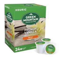 Green Mountain Coffee® French Vanilla Decaffeinated Coffee Single-Serve K-Cup®, Carton Of 24