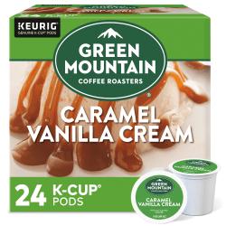 Green Mountain Coffee® Caramel Vanilla Cream Coffee Single-Serve K-Cup®, 0.42 Oz, Carton Of 24