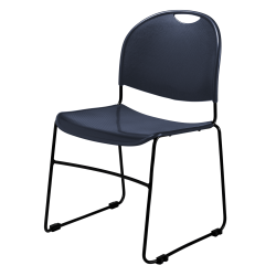 National Public Seating Commercialine Stack Chair, Navy/Black