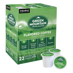 Green Mountain Coffee® Coffee Single-Serve K-Cup® Variety Pack, Flavored, Carton Of 22