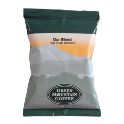 Green Mountain Coffee® Our Blend Coffee Single-Serve Packets, 2.2 Oz, Carton Of 100