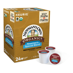 Newman's Own® Organics Single-Serve Coffee K-Cup®, Special Blend, Carton Of 24