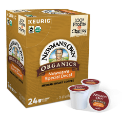 Newman's Own® Organics Special Blend Single-Serve Coffee K-Cup®, Decaffeinated, Carton Of 24