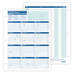 "ComplyRight™ 2020-2021 Academic Attendance Calendar, 8 1/2"" x 11"", Pack Of 50"