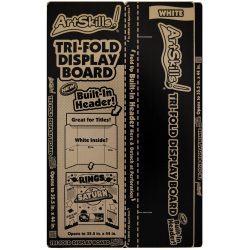 "ArtSkills® Tri-Fold Boards, 35 1/2"" x 22"", White"