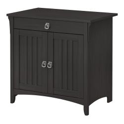 "Bush Furniture Salinas 32""W Secretary Desk With Keyboard Tray And Storage Cabinet, Vintage Black, Standard Delivery"
