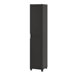Ameriwood Home Callahan 16 Utility Storage Cabinet 5 Shelves Black Office Depot