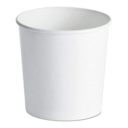 Huhtamaki Paper Food Containers, 16 Oz, White, Pack Of 1,000 Containers