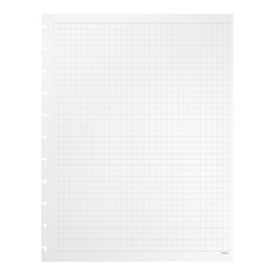 TUL® Discbound Notebook Refill Pages, Letter Size, Graph Ruled, 100 Pages (50 Sheets), White