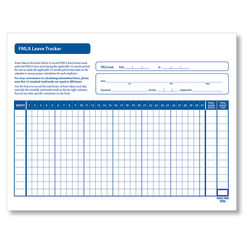 "ComplyRight FMLA Leave Tracker Forms, 8 1/2"" x 11"", White, Pack Of 50"