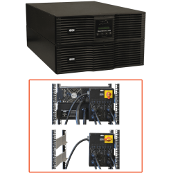 Tripp Lite UPS Smart Online 8000VA 7200W Rackmount 8kVA 200V-240V USB DB9 Manual Bypass Hot Swap 50A Plug 6URM - 6 Minute Full Load - 8kVA - SNMP Manageable