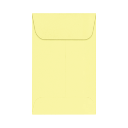 "LUX Coin Envelopes, #1, 2 1/4"" x 3 1/2"", Lemonade, Pack Of 1,000"