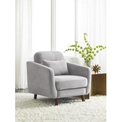Serta® Sierra Collection Arm Chair, Smoke Gray/Chestnut