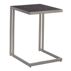 Lumisource Roman Side Table, Dark Gray/Antique