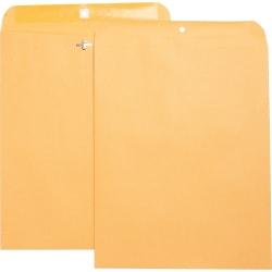 "Business Source Heavy-duty Clasp Envelopes - Clasp - #105 - 11 1/2"" Width x 14 1/2"" Length - 28 lb - Clasp - Kraft - 100 / Box - Brown Kraft"