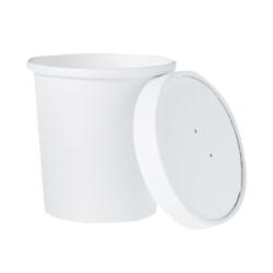 "Dart Flexstyle Paper Food Containers With Lids, 3-15/16"" x 3-15/16"", White, Pack Of 250 Containers"