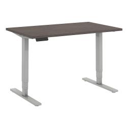 "Bush Business Furniture Move 80 Series 48""W x 30""D Height Adjustable Standing Desk, Cocoa/Cool Gray Metallic, Premium Installation"