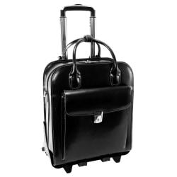 "McKleinUSA La Grange Ladies Rolling Briefcase With 15.4"" Laptop Pocket, Black"