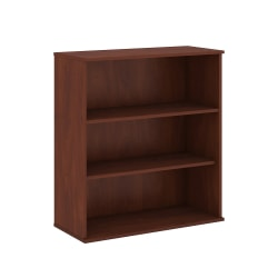 "Bush Business Furniture 3 Shelf Bookcase, 48""H, Hansen Cherry, Standard Delivery"