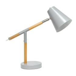 "Simple Designs Pivot Desk Lamp, 15-1/2""H, Gray"