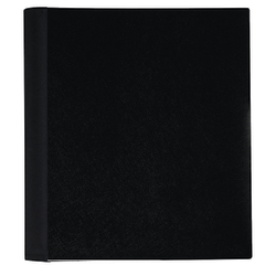 "Office Depot® Brand Spiral Stellar Poly Notebook, 9"" x 11"", 1 Subject, College Ruled, 100 Sheets, 58% Recycled, Black"