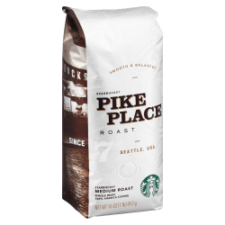 Starbucks® Whole Bean Coffee, Pike Place, 16 Oz
